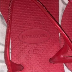 Havaianas Shoes - Havaianas Pink With Ankle Stars Size 6